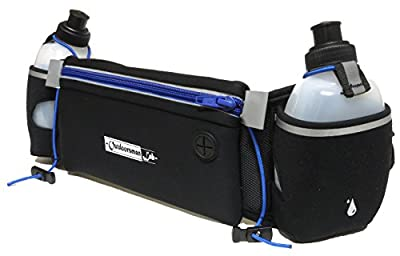 Hydration Belt for Running with Water Bottles (2x BPA-free 10 Oz) Fits iPhone 6s plus- Neoprene Fuel Belt for Running,Race,Marathon,Hiking- Men & Women Runners belt with Water bottles from DSEC