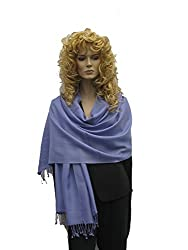 Scarf Shawl Wrap Stole Pashmina Shawl In Solid Color From Cashmere Pashmina Group Periwinkle