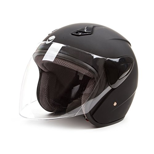 Outlaw Open Face (Open Face Motorcycle Helmets Scooter Helmets Flip up Helmets with Shield Matt)