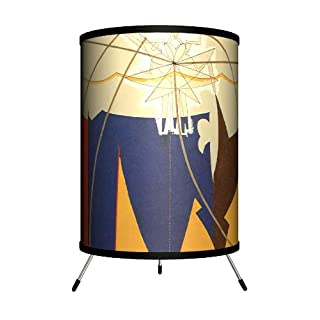 "Lamp-In-A-Box TRI-Art-MRROP Art - Man Ray""The Rope Dancer Accompanies Herself with Her Shadows"" Tripod Lamp, 8"" x 8"" x 14"""