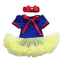 Newborn Infant Baby Girl Princess Party Romper Costume My 1st Halloween Tutu Dress