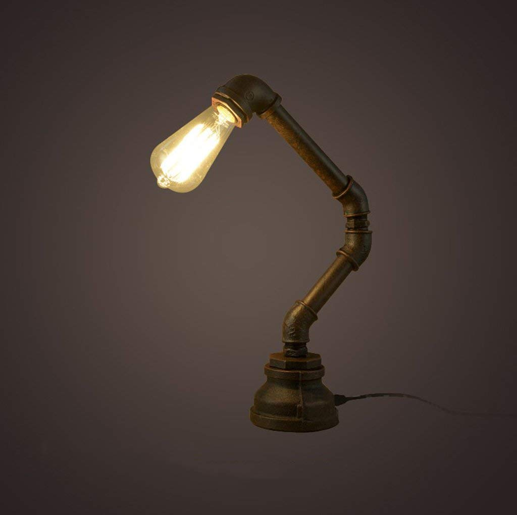 SXT ヴィンテージ工業用テーブルlampreative錬鉄製のパイプテーブルlamprtデコlampreadingデスクランプ   B07RXW7W9K