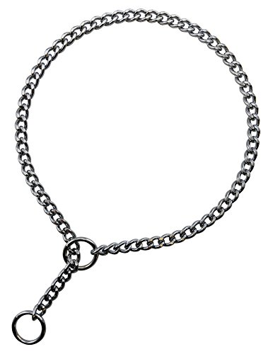 Haute Dauge Best in Show by H.D. Flat Link Style Show Chain for Dog Show or Training Collar - Chrome 1.6 mm Link x 22 inch