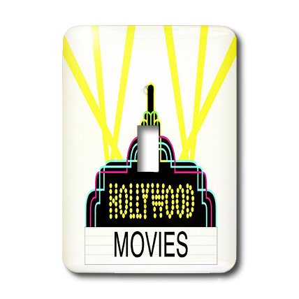 Hollywood Switchplate - 3dRose lsp_43847_1 Fun Hollywood Movie Symbol Toggle Switch
