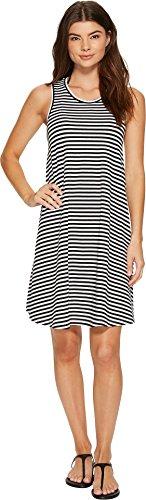 Seafolly Women's Indian Summer Mini Stripe Swing Jersey Dress Cover-Up Black Swimsuit Top (Indian Summer Stripe)