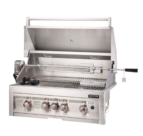 SUNSTONE SUN4B-IR-LP 4-Burner 34-Inch Infrared Propane Gas Grill by SUNSTONE