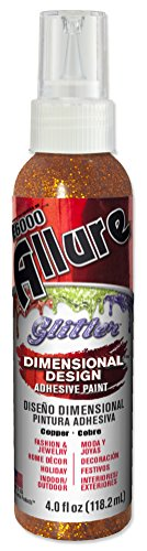 E6000 57090481 781C Allure Glitter Dimensional Adhesive Paint, Copper, 4 fl. oz.