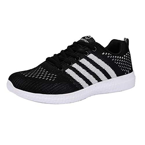 Deportivo Zapatillas Mujer De Deportivas Libre Calzado Zapatos Sneakers Running Al Negro Casual Fitness Exterior Yoga Aire Ezqzr