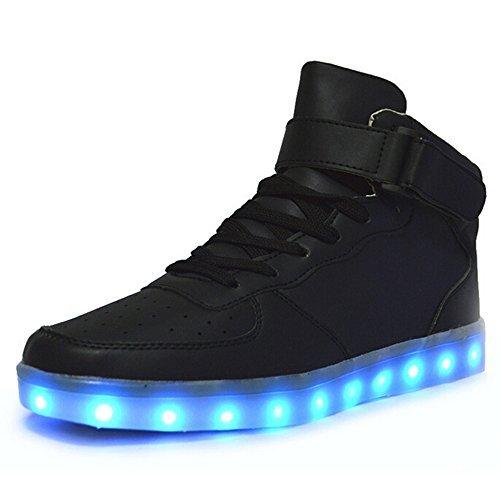 Helen's Pinkmartini 7 Colors Light Shoes High Top Sports Sneakers For Men,Black,12 D(M) US