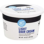 Amazon Brand - Happy Belly Light Sour Cream, Kosher, 16 Ounce