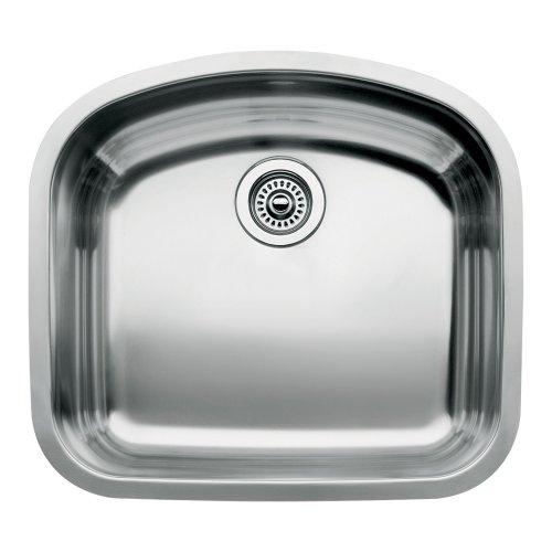 Blanco 510-877 Wave Single Bowl Undermount Kitchen Sink, Satin Polished Finish