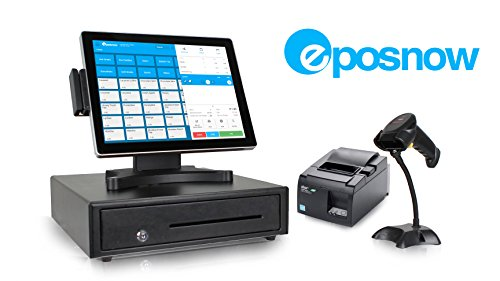 Retail Cloud Point of Sale System - includes Customer Display, Touchscreen PC, POS Software (Epos Now), Receipt Printer, Scanner, Cash Drawer, and Credit Card Swipe Reader by Crimson Solutions