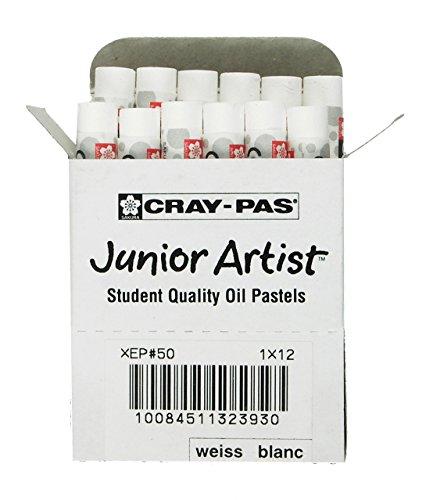 Sakura XEP-050 12-Piece Cray-Pas Junior Artist Oil Pastel Set, White