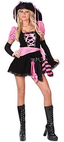 Fancy Me Mujer Sexy Negro Rosa Punky Pirata gallina Hacer Fiesta ...