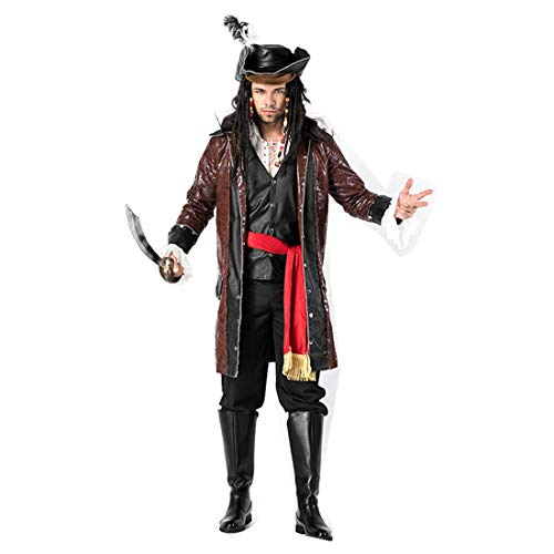 MV Halloween Costume Pirate Male Knight Cosplay Suit British Soldier Honor -