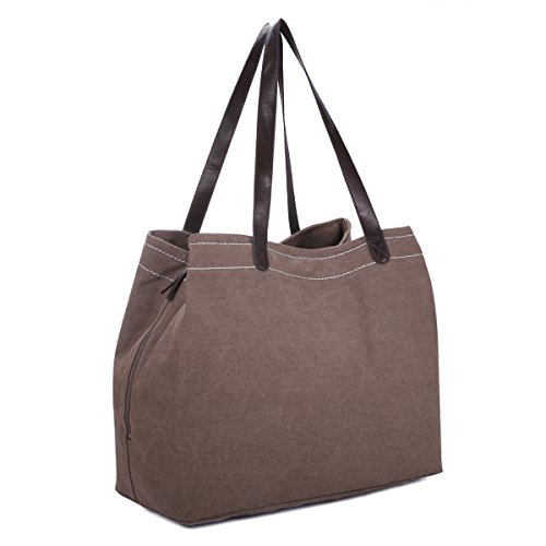 Sac Femme Port Voyage fonction Grand Sac Compartiment Tissu Toile Sports Shopper Multi Gracosy PTwxxZAq