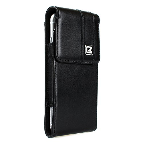 [NEW Gorilla Clip] CASE123 MPS Mk II SL Premium Genuine Leather Vertical Swivel Belt Clip Holster for Apple iPhone 6 / 6s / 7 for use with no cases or covers - Black Cowhide