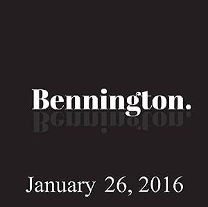Bennington, January 26, 2016 Radio/TV Program