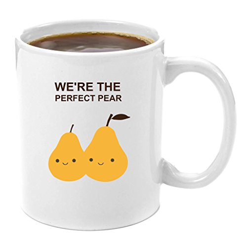 (We're the Perfect Pear | Coffee Mug 11 oz - Anniversary gifts for Her, Wedding Anniversary Gifts for Her, Birthday Gifts for Her, Perfect gift for Her, Romantic Gift for)