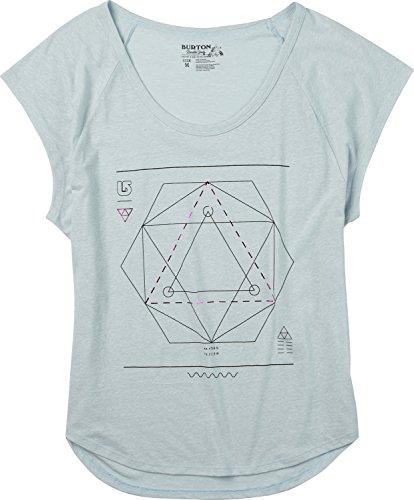 Burton Women's Vertigo Tee, Medium, Silver (Vertigo Cotton T-shirt)