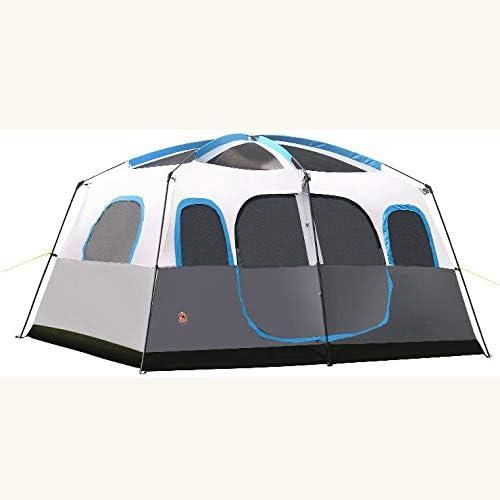 KD Tienda Al Aire Libre Camping 8 Personas 10 Personas 12 Personas Dos Habitaciones Una Sala Multi-Persona Camping Tienda De Campaña: Amazon.es: Hogar