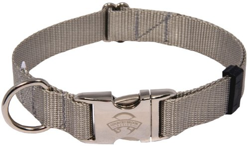 Country Brook Design 10 Premium Nylon Dog Collars - Silver - Small by Country Brook Design