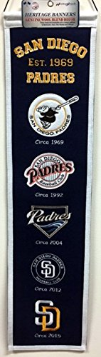 MLB San Diego Padres Heritage Banner (San Diego Padres Fan Banner)