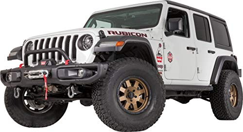 WARN 102355 Jeep JL OE Rubicon Front Bumper Grille Guard Tube, Low-Height ()