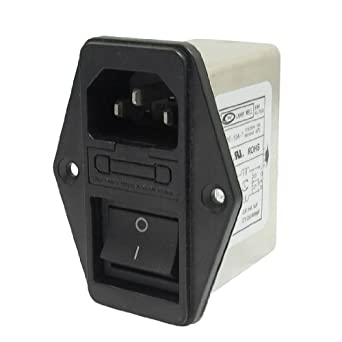 Uxcell a13031400ux0389 Solder Lug Terminals IEC 320 C14 EMI Filter, Boat Switch, Fuse Holder
