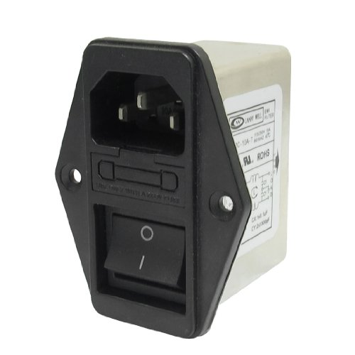 Uxcell a13031400ux0389 Solder Lug Terminals IEC 320 C14 EMI Filter, Boat Switch, Fuse Holder by uxcell