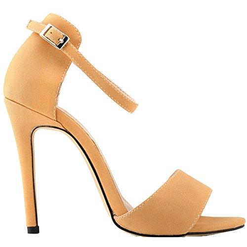 Win8Fong - Sandalias de vestir para mujer Rosa - rosa grisáceo claro