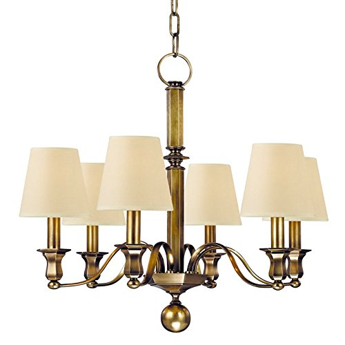 (Hudson Valley Lighting 1416-AGB Six Light Chandelier, Aged Brass)