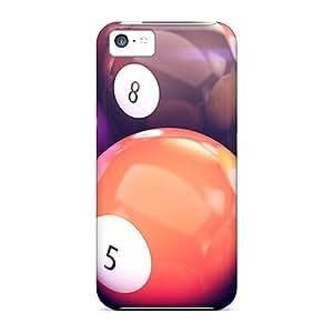 New Design Shatterproof KFxdetc2314QtgYE Case For Iphone 5c (pool Balls)