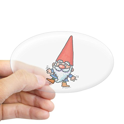 CafePress - GNOME Sticker - Oval Bumper Sticker, Euro Oval Car Decal Gnomes Sticker