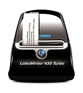 Dymo S0838820 - Impresora de etiquetas (térmica directa, 600 x 300 dpi, USB 2.0, de serie, 56 mm) color negro y plateado
