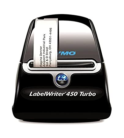 Dymo S0838820 - Impresora de etiquetas (térmica directa, 600 x 300 dpi, USB 2.0, de serie, 56 mm) color negro y plateado Dymo-CoStar Corp
