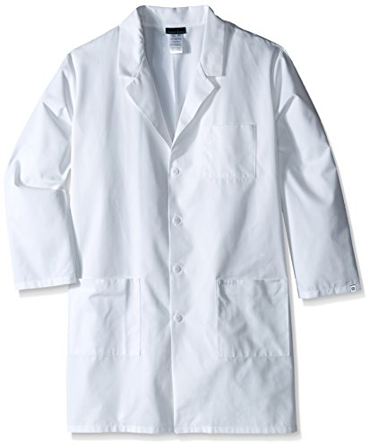 Cherokee Men's Big and Tall Professional With Plus 40 Inch Unisex Lab Coat, White, - Lab Antimicrobial Coat