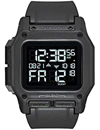 Regulus A1180 - All Black - 100m Water Resistant Men's Digital Sport Watch (46mm Watch Face, 29mm-24mm Pu/Rubber/Silicone Band)