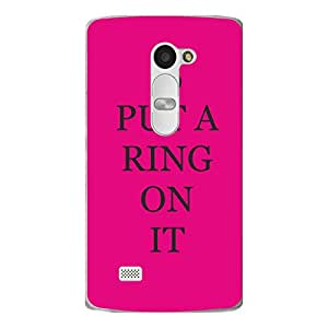 "Disagu Design Protective Case para LG Leon LTE Funda Cover ""PUT A RING ON IT"""