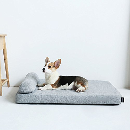 LDFN Dog Pillow Bed Four Seasons General Large Medium Small Size Dog Mattress Sofa Cushions,Grey-M by LDFN (Image #1)