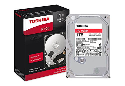 Toshiba P300 1TB Desktop 3.5 Inch SATA 6Gb/s 7200rpm Internal Hard Drive
