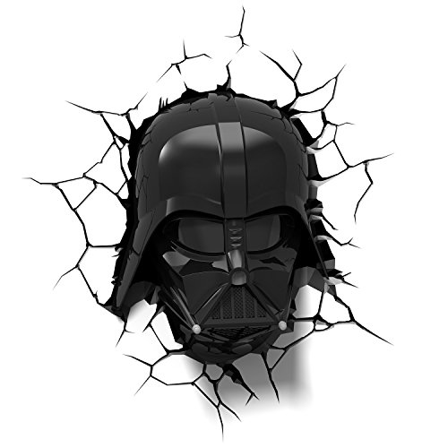 3D Light FX 50026 Lámpara Decorativa 3D EP7 Star Wars Casco de Darth Vader