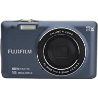 Fujifilm - JX665 16.0-Megapixel 5 X Wide Opt Zoom Digital Camera - Indigo Blue