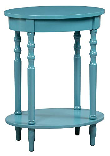 Convenience Concepts  Classic Accents Brandi Oval End Table, Blue