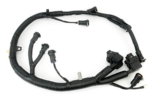 (FICM Engine Fuel Injector Complete Wire Harness - Replaces Part 5C3Z9D930A - Fits Ford Powerstroke 6.0L Diesel - 2003, 2004, 2005, 2006, 2007 F250 F350 F450 F550 2004-2005 Ford Excursion 5C3Z-9D930-A)