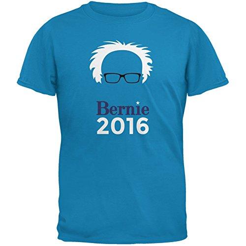 Election 2016 Bernie Sanders Hair Minimalist Sapphire Blue Adult T-Shirt
