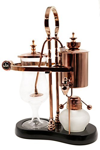 Diguo-Belgian-Luxury-Royal-Family-Balance-Belgium-Syphon-Coffee-Maker-Elegant-Design-Retro-StyleRose-Golden