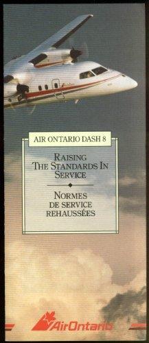 Air Ontario Dash 8 Raising Standards in Service airline folder 1980s