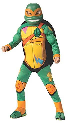 Rubie's Child's Rise Of The Teenage Mutant Ninja Turtles Deluxe Costume, Michelangelo, -