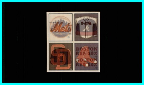 New York Mets Atlanta Braves San Diego Padres Boston Red Sox 1986 - 1987 Sportflics Uncut Team Panel measures approximately 4x3 inches